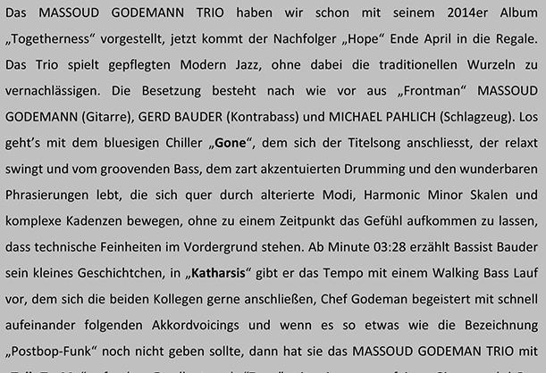 Musik-Newsletter 21.04.2016